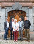 Vorfreude auf das Getznerhaus: Beatus Fleisch, Bernd Feldkircher (Getzner), Michaela Stadlober, Georg Comploj und Architekt Markus Mitiska.