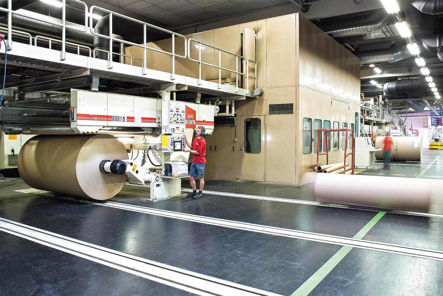 25 Prozent der Rondo-Papierproduktion werden im benachbarten Wellpappewerk zu qualitativ hochwertigen Verpackungen verarbeitet.