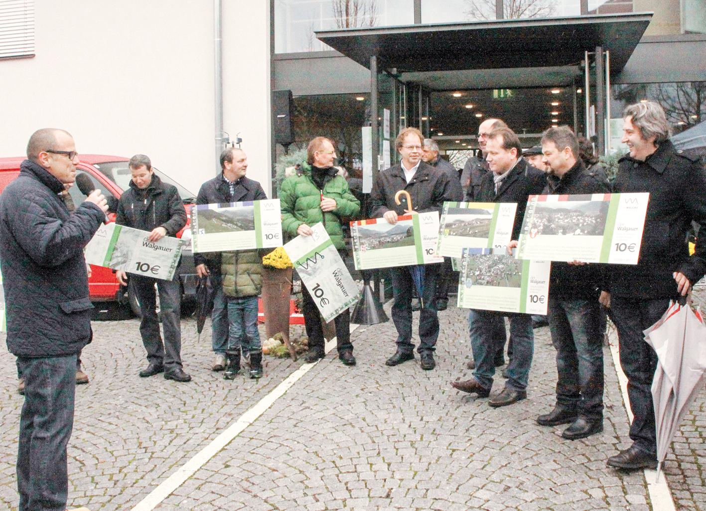 """Im November 2013 wurde die Regionalwährung """"Walgauer"""" im Rahmen des Frastanzer Herbstmarktes vorgestellt."""