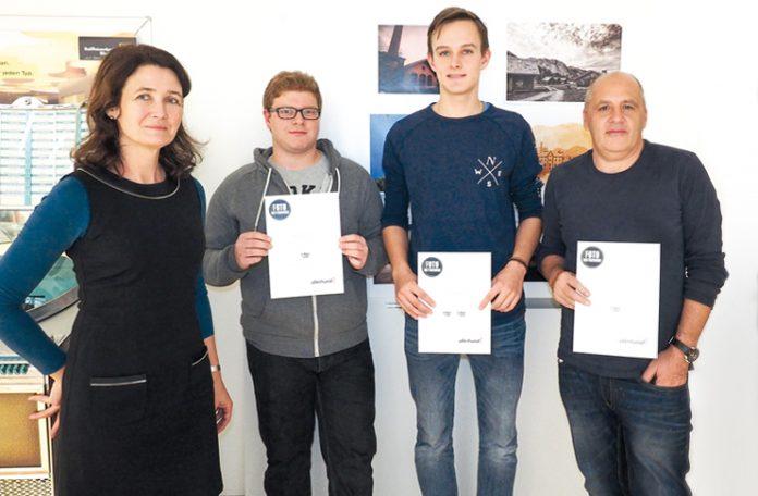 Wir gratulieren den Preisträgern Denis Wiedenig, Julian Wachter und Ernst Passler.