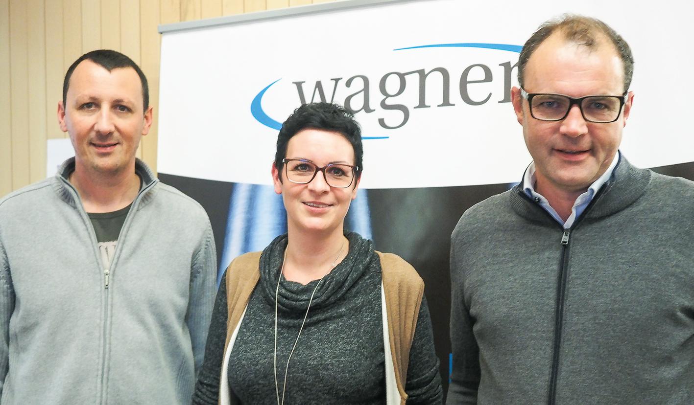 Christian Berthold, Claudia Lusser und Martin Wagner: Bei Wagner ist Lehrlingsausbildung Chefsache.
