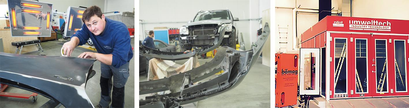 Bei Dreier Karosserietechnik wird so manches verrostete Auto zum Oldtimer und so manches Unfallauto wieder wie neu.