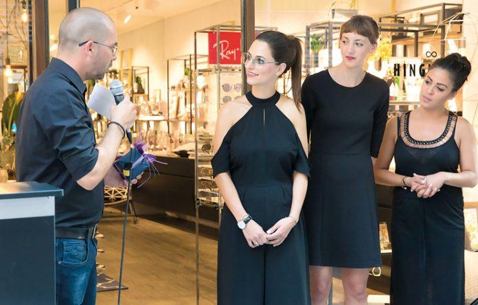Simon und Jennifer Bitsche mit ihren Mitarbeiterinnen Hannah Gabriel und Maria Konzett