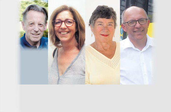 v.l.: Elmar Hosp, Ulrike Schallert, Gertraud Six, Michael Strieder