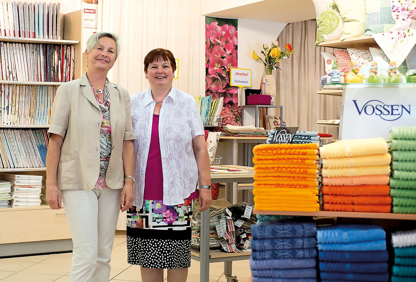 Bei Veronika Bickel und Rosmarie Bertsch findet man sogar noch das gute alte Stofftaschentuch.